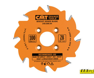 Biscuit joiner saw blades CMT 240.008.04 D100x3,96x8z B22 mm