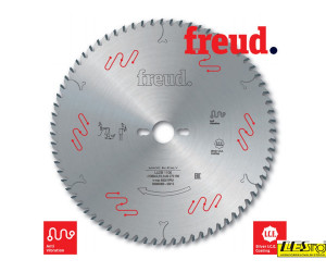 Saw blades for crosscutting wooden composites and panels