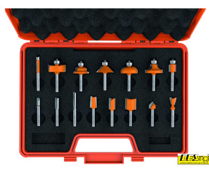 Bit set for router 15-piece 900.001.00