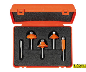 Bit set 5-piece straight and profile 900.005.03