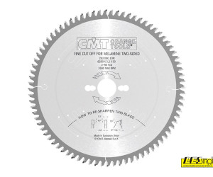 Fine cut-off saw blades to cut laminated panels - two-sided melamine