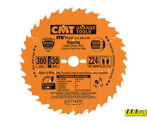 Thin kerf saw blades for rip and crosscuts