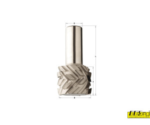 Diamond router cutters with 40° shear angle