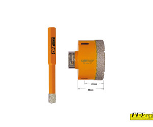 Diamond dry hole saws CMT 552 and center drills